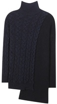 Stella McCartney Asymmetrical Wool-blend Turtleneck Sweater