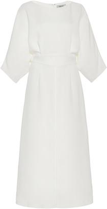 Rachel Comey Lyss Pleated Crepe Midi Dress