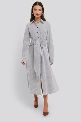 NA-KD Tie Front Shirt Dress Multicolor