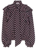 Balenciaga Ruffled Striped Blouse