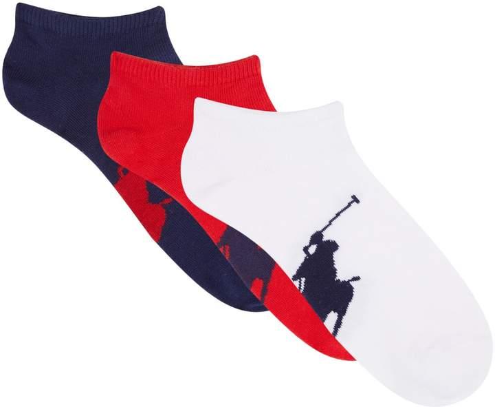 Polo Ralph Lauren Big Pony Sneaker Socks (Pack of 3)