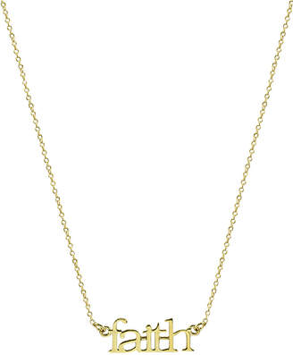 "Argentovivo Faith"" Pendant Necklace in Gold-Plated Sterling Silver, 16"" + 2"" extender"