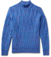 Missoni Cable-knit Space-dyed Wool-blend Sweater - Blue
