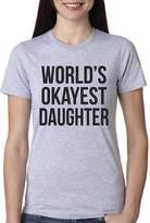 Crazy Dog T-shirts Crazy Dog Tshirts Youth World's Okayest Daughter T Shirt Funny I Love My Child Tee L
