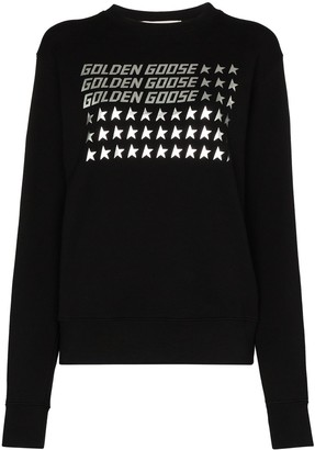 Golden Goose Logo Flag Print Sweatshirt