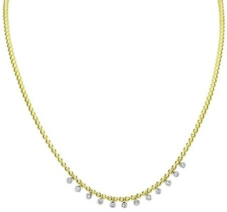 Meira T 14K Yellow Gold & Bezel-Set Diamond Charm Ball Chain Necklace