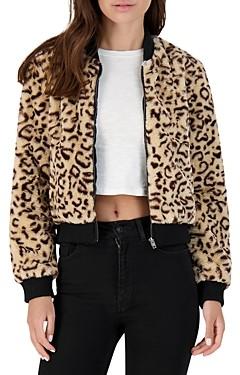 BB Dakota Meow Factor Faux Fur Bomber Jacket