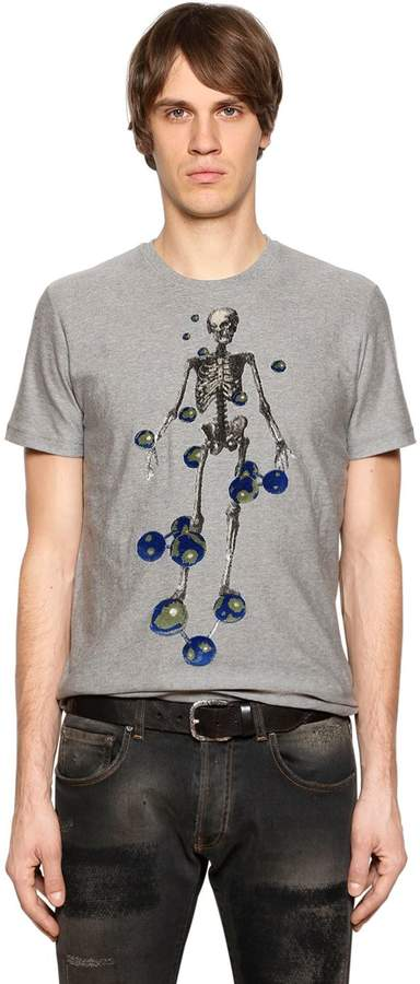 Etro Skeleton Tufted Cotton Jersey T-Shirt