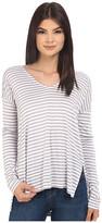 BB Dakota Bryton Yarn Dye Strip Rayon Jersey V-Neck Top
