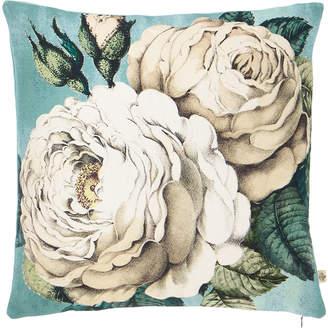 John Derian Rose Swedish Blue Decorative Pillow