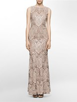 Calvin Klein Ornamental Sequin Gown