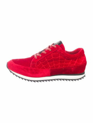 Charlotte Olympia Printed Athletic Sneakers Red