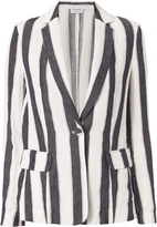 Frame Linen Classic Stripe Blazer