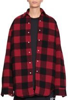 Vetements Wool Flannel Oversized Shirt
