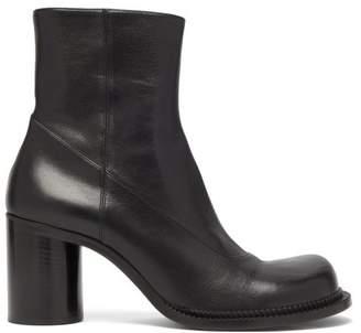 Maison Margiela Exaggerated Toe Leather Boots - Mens - Black