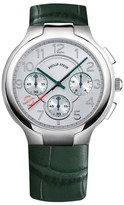 Philip Stein Teslar Men&s Round Chronograph Quartz Leather Strap Watch