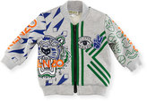 Kenzo Logo Allover Tiger Jacket, Gray, Size 12-18M