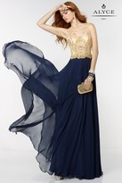 Alyce Paris - 6527 Prom Dress in Navy Gold