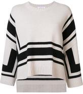 Derek Lam 10 Crosby flared striped sweater - women - Wool - XS