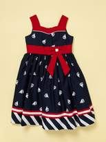 Jayne Copeland Navy Sailboat Dress
