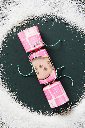Anthropologie Holiday Cracker Earrings, Set of 3 By in Pink