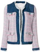 Pinko denim and bouclé jacket