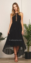 Adelyn Rae Lace Panel Irina Pleated Day Dress