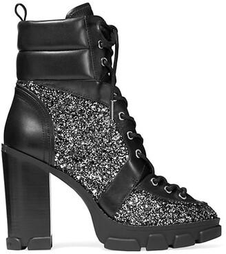 MICHAEL Michael Kors Ridley Lug-Sole Glitter Combat Boots