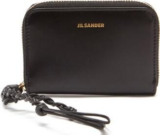 Jil Sander Braided-strap Leather Wallet - Black