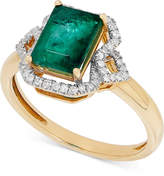 Macy's Emerald (1-3/4 ct. t.w.) and Diamond (1/6 ct. t.w.) in 14k Gold
