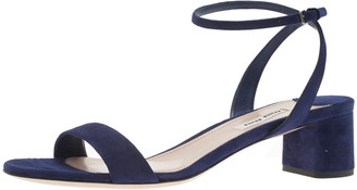 Miu Miu Purple Suede Ankle Strap Sandals Size 38.5