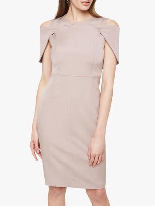 Damsel in a Dress Nicola Cold Shoulder Fitted Dress, Mink