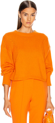 LOULOU STUDIO Huahine Oversized Pullover in Orange | FWRD