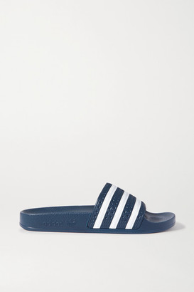 adidas Adilette Striped Rubber Slides - Navy