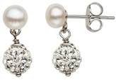 Honora Girl's Crystal & Freshwater Pearl Earrings