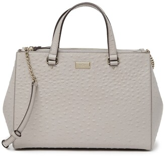 Kate Spade Loden Bristol Drive Ostrich Embossed Leather Satchel