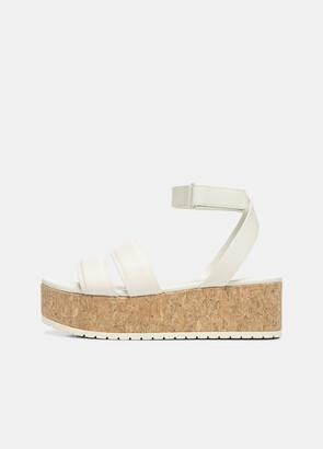 Vince Leather Jet Platform Sandal