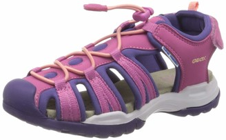 Geox Girls J Borealis B Closed Toe Sandals