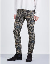 Burberry Botanical Slim-fit Skinny Jacquard Jeans