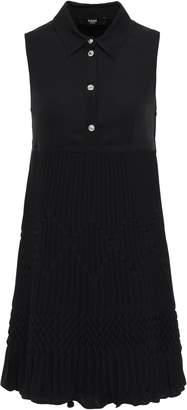 Versace Pleated Crepe Mini Dress