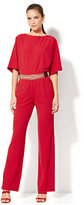 New York & Co. Bateau-Neck Jumpsuit - Red