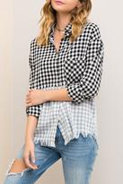 Entro Fringe Checkered Shirt