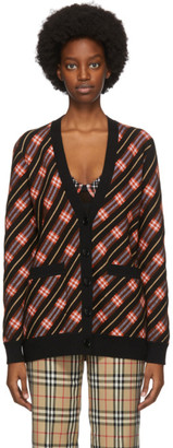 Burberry Black Check Coralie Cardigan