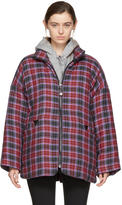 Opening Ceremony Mulitcolor Flannel Duvet Coat