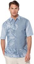 Cubavera Big & Tall Short Sleeve Linen Cotton Engineered Tropical Print