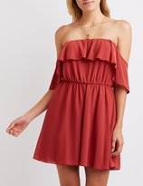 Charlotte Russe Ruffle Off-The Shoulder Dress