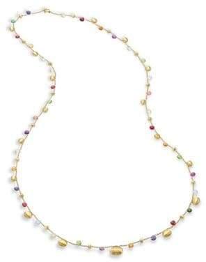 "Marco Bicego Paradise Semi-Precious Multi-Stone Graduated Long Necklace/35"""