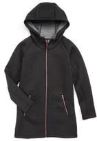 Zella Girl's Spacer Long Hooded Jacket