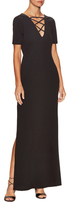 Lucca Couture High-Slit Lace Up Maxi Dress