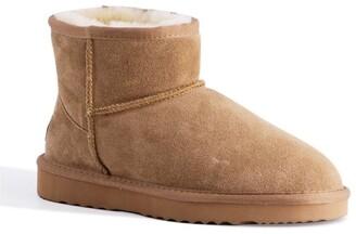 Aus Wooli Ugg Short Sheepskin Ankle Boot - Chestnut/Tan Tan
